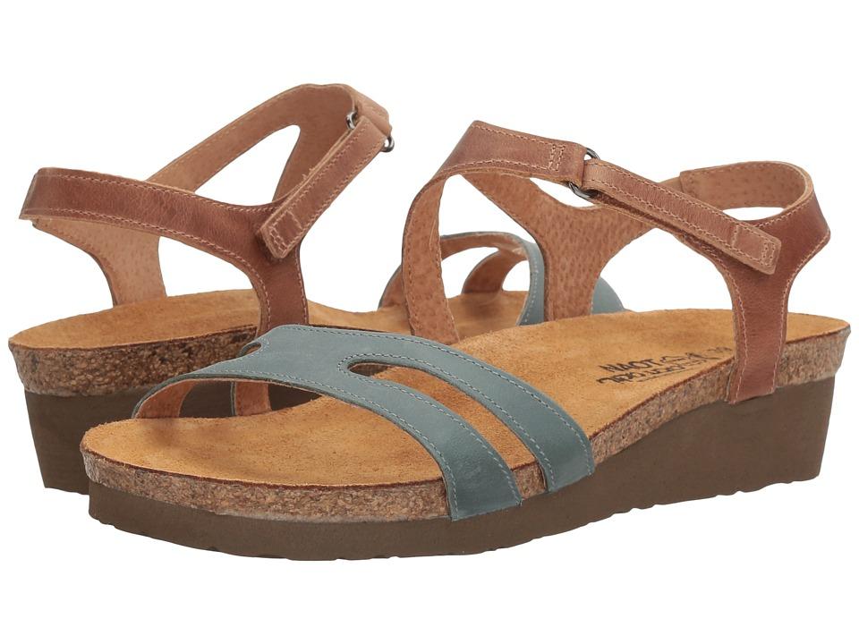Naot Footwear Janis (Sea Green Leather/Latte Brown Leather) Women