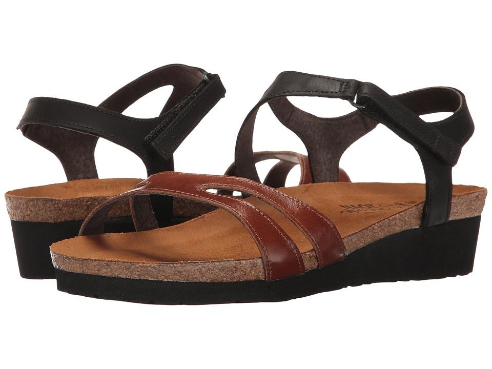 Naot Footwear Janis (Maple Brown Leather/Oily Coal Nubuck) Women