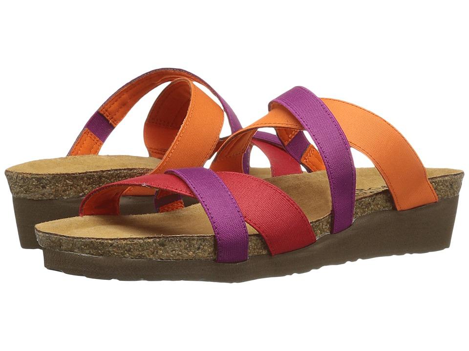 Naot - Roxana (Red Stretch/Orange Stretch/Magenta Stretch) Womens Shoes