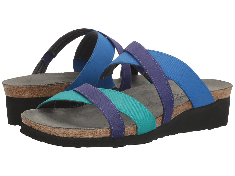 Naot Roxana (Aqua Stretch/Royal Blue Stretch/Gloss Purple Stretch) Women's Shoes