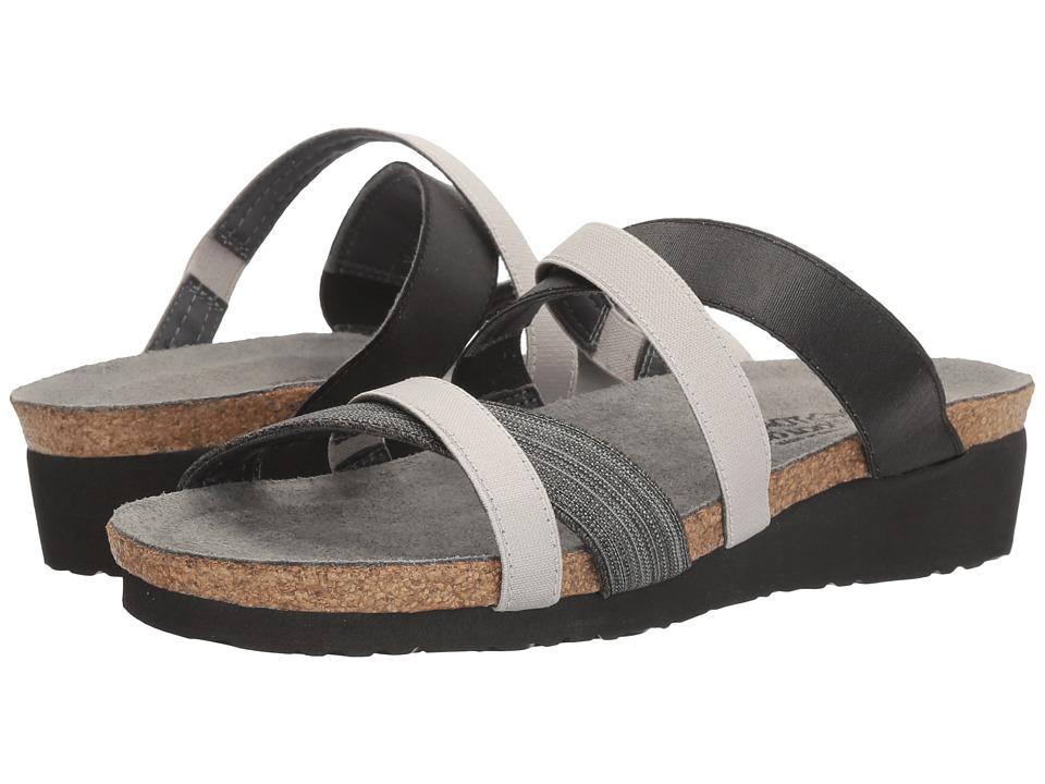 Naot Roxana (Black Fabric/Gloss Black Stretch/Light Gray Stretch) Women's Shoes