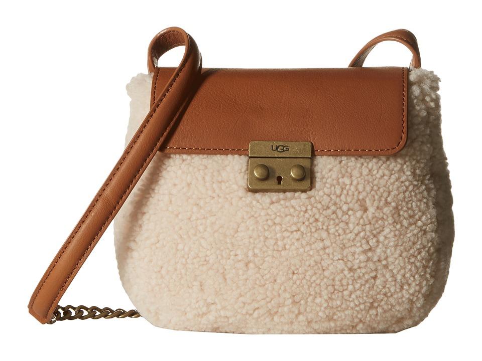 UGG - Vivenne Sheepskin Crossbody (Chestnut/Natural) Cross Body Handbags