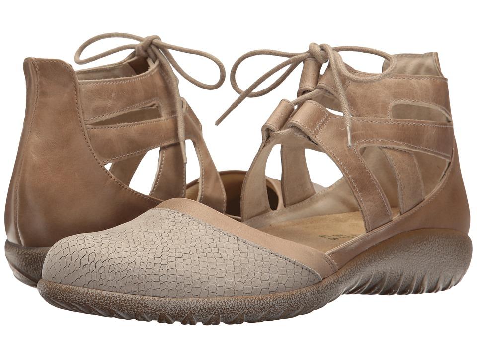Naot Kata (Beige Iguana Nubuck/Khaki Beige Leather/Arizona Tan Leather) Women's Shoes