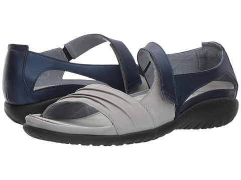 Naot Footwear Papaki - Light Gray Nubuck/Polar Sea Leather