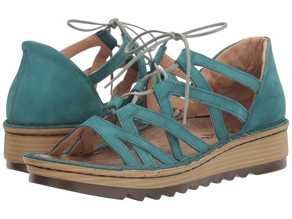 Naot Yarrow (Teal Nubuck) Women's Shoes
