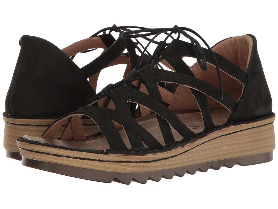 Naot Yarrow (Black Velvet Nubuck) Women's Shoes