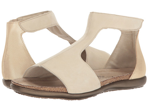 Naot Footwear Nala - Beige Nubuck/Gold Threads Leather