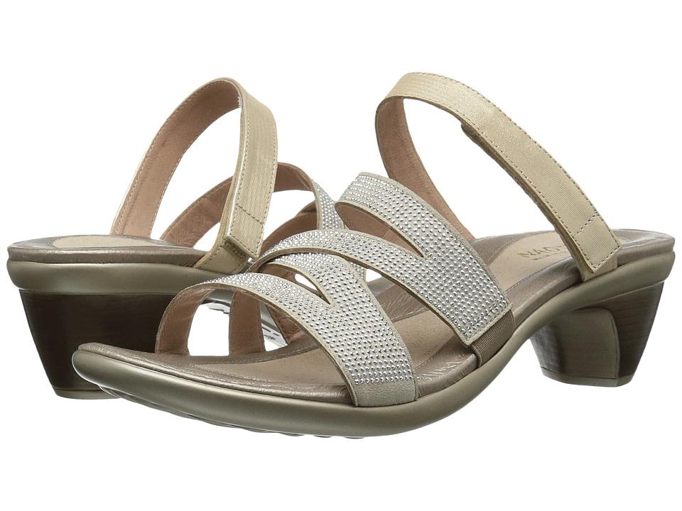 Naot Footwear Formal (Gold Threads Leather/Beige Microfiber/Silver Rivets) Women