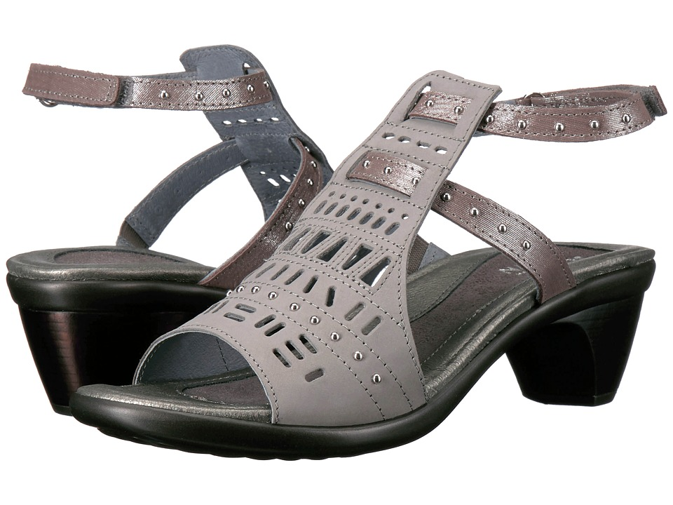 Naot - Vogue (Light Gray Nubuck/Silver Threads Leather) Women's Sandals