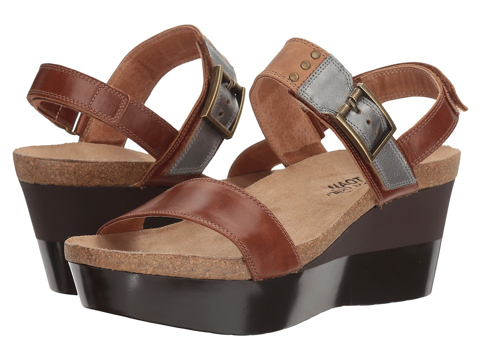Naot Alpha (Maple Brown Leather/Latte Brown Leather/Mirror Leather) Women