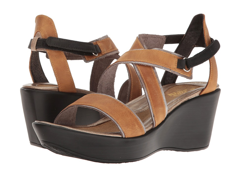 Naot Footwear Gesture (Oily Dune Nubuck/Silver Threads Leather/Khaki Beige Leather/Oily) Women