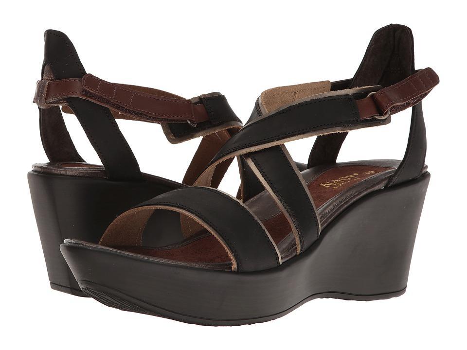 Naot Footwear Gesture (Oily Coal Nubuck/Pewter Leather/Brown Haze Leather/Toffee Brown) Women