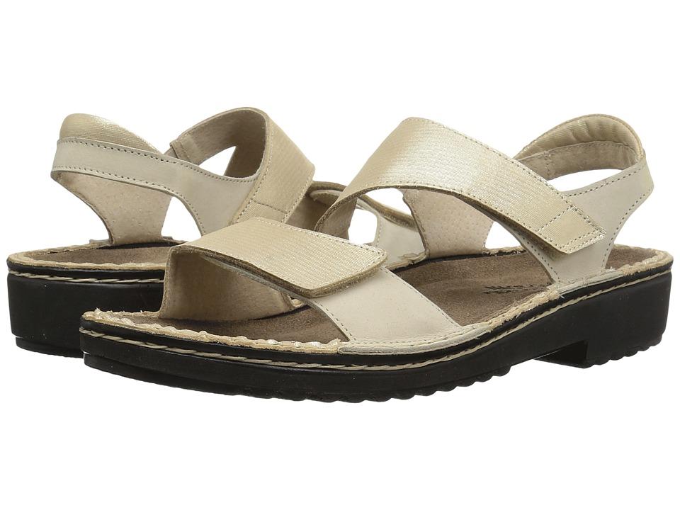 Naot Footwear Enid (Gold Threads Leather/Beige Nubuck) Women