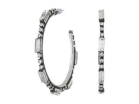 DANNIJO LYRA Earrings - Ox Silver/Clear