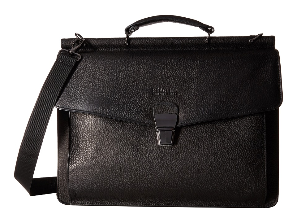 Kenneth Cole Reaction - My Rod-Ern Life - Computer Dowel Rod Portfolio (Black) Briefcase Bags