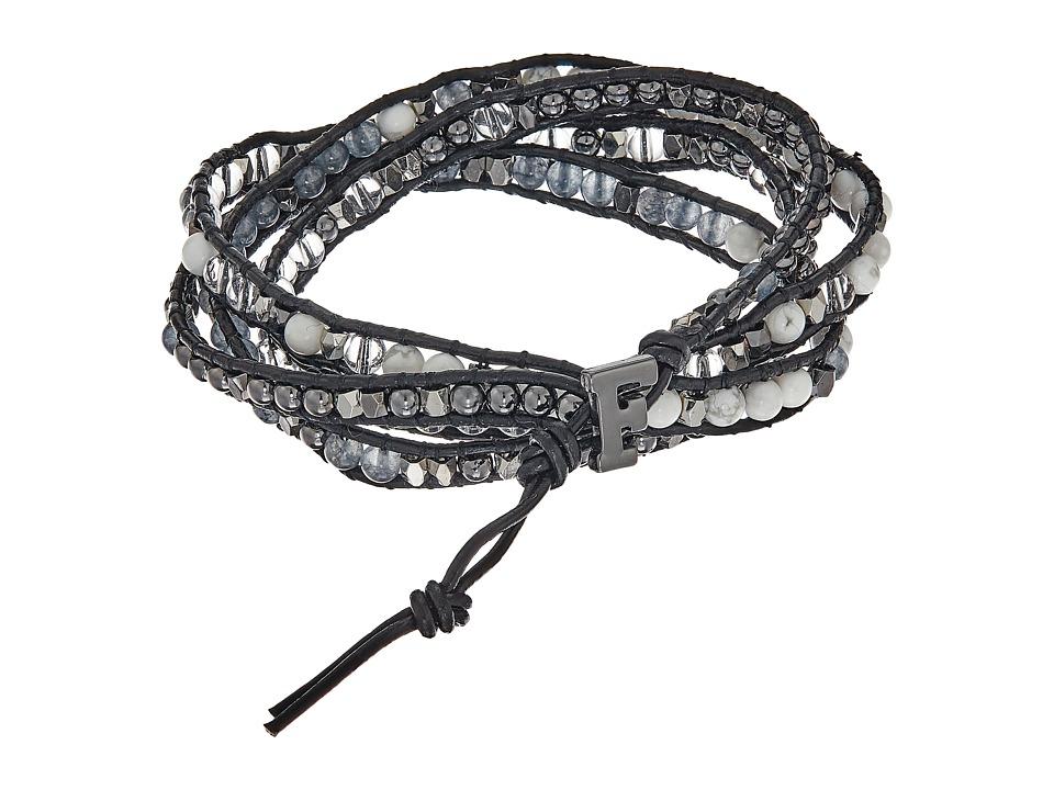 French Connection - Semi-Precious Multi Bead Wrap Bracelet