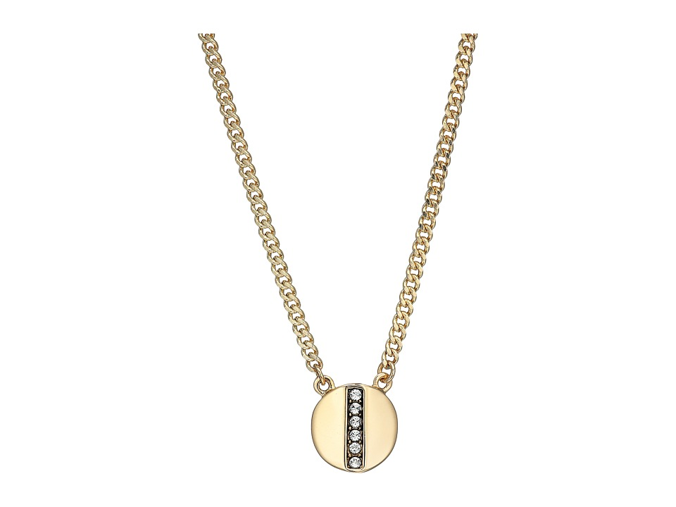 Cole Haan - 16 Round Pave Bar Pendant Necklace