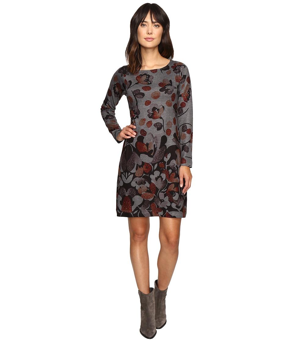 Nally & Millie Printed Long Sleeve Sweater Dress (Multi) Women