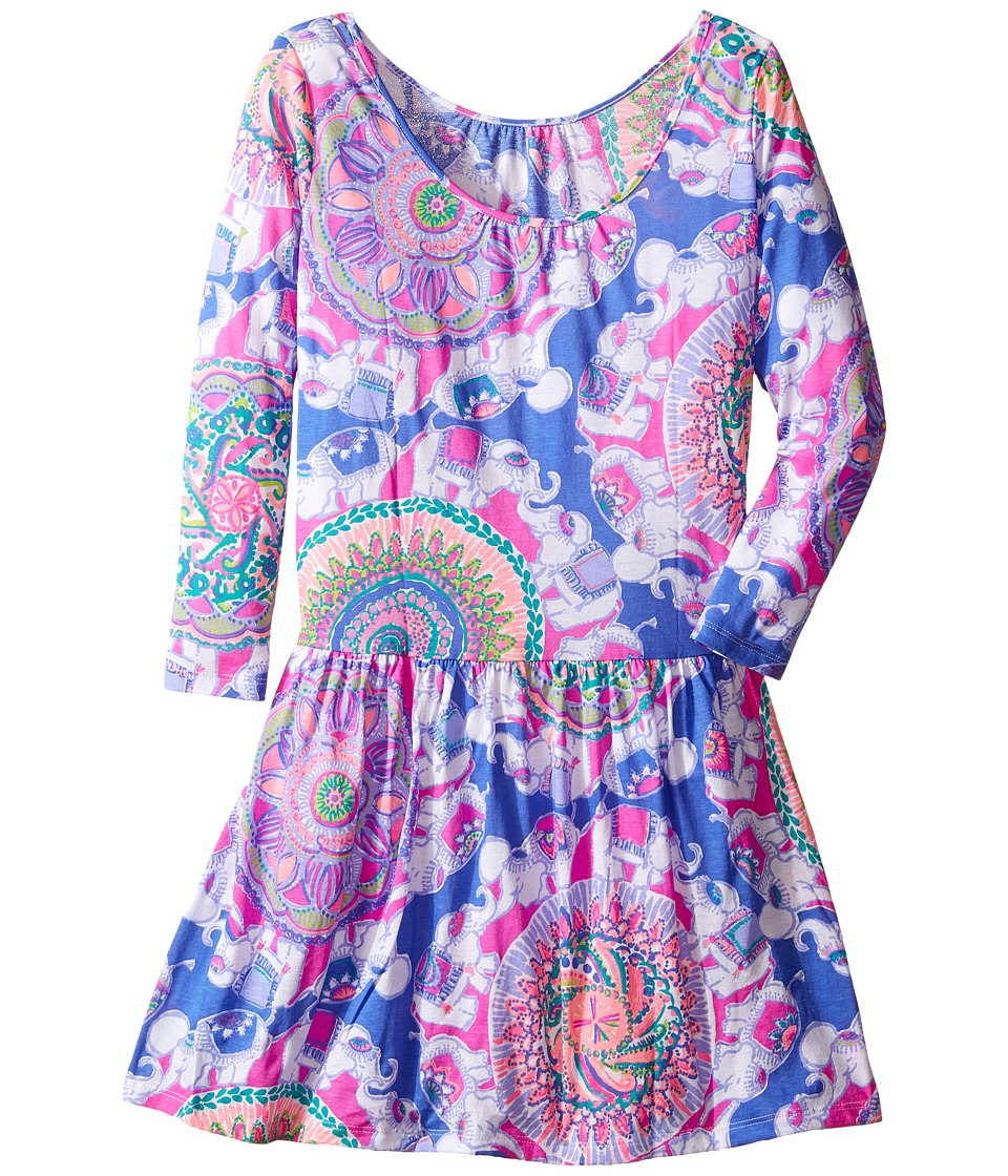 Lilly Pulitzer Kids Lynn Dress (Toddler/Little Kids/Big Kids) (Multi Play That Trunky Music) Girl