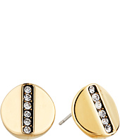 Cole Haan - Round Pave Bar Stud Earrings
