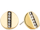 Cole Haan Round Pave Bar Stud Earrings