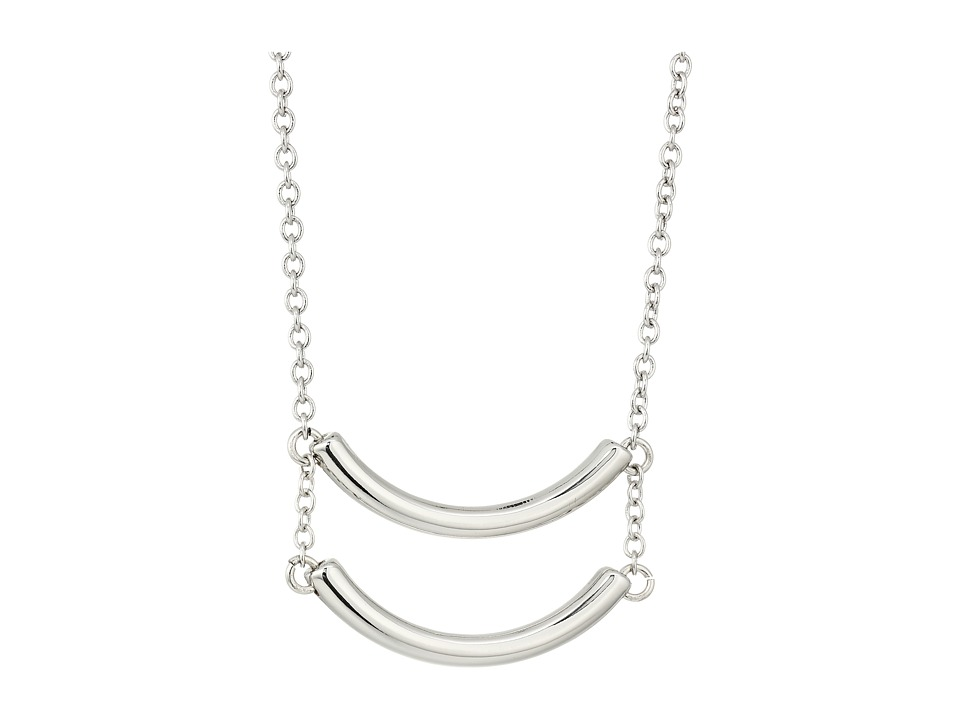 French Connection - Double Curved Tube Pendant Necklace