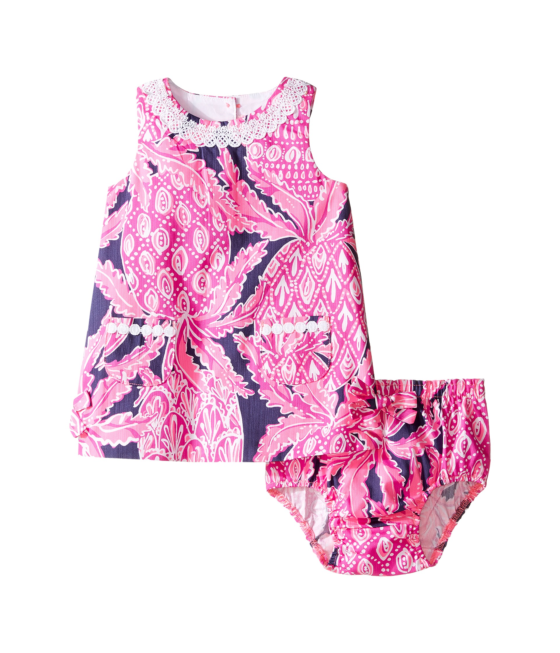 Lilly Pulitzer Kids Lilly Shift Infant Bright Navy Coco