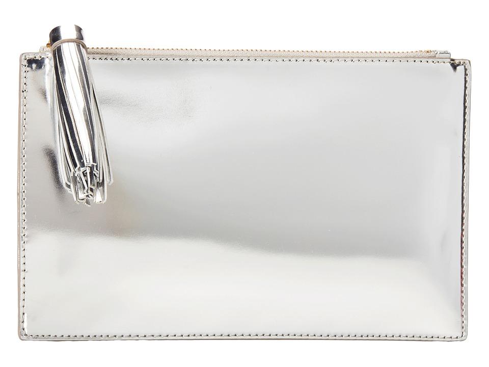 Loeffler Randall Flat Pouch (Silver) Clutch Handbags