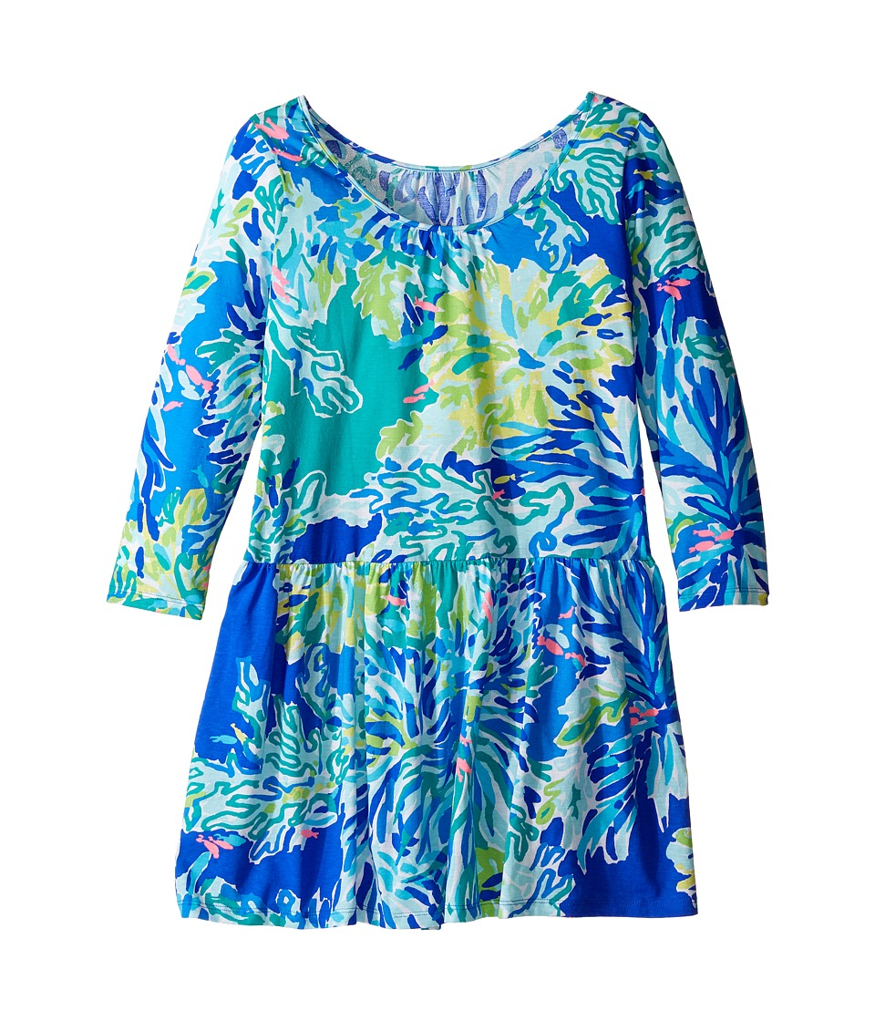 Lilly Pulitzer Kids Lynn Dress (Toddler/Little Kids/Big Kids) (Brilliant Blue Wade and Sea) Girl