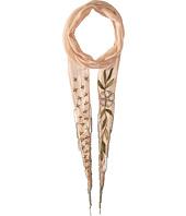 Chan Luu - Floral Embellised Skinny Scarf