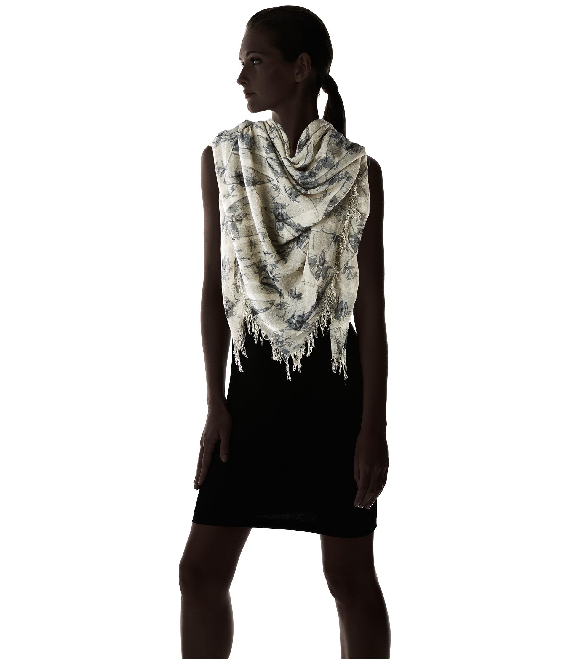 chan luu bow print silk scarf black mix