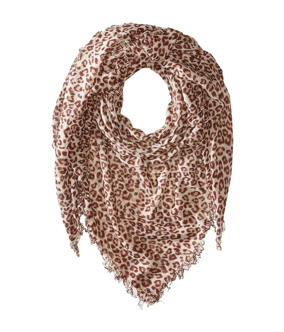 Chan Luu - Leopard Cashmere and Silk Scarf