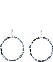 Chan Luu - Midnight Crystal Earrings Hoop