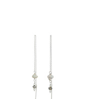 Chan Luu - Grey Pearl Mix Thread Thru Earrings