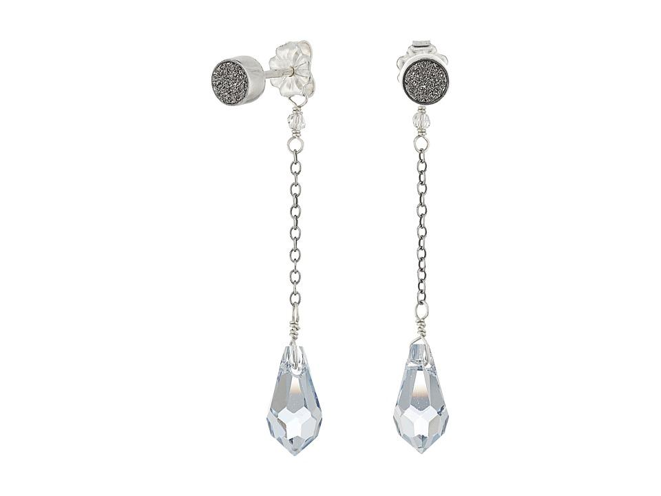 Chan Luu - Gunmetal Agate Stud Dangle Earrings (Gunmetal Agate) Earring