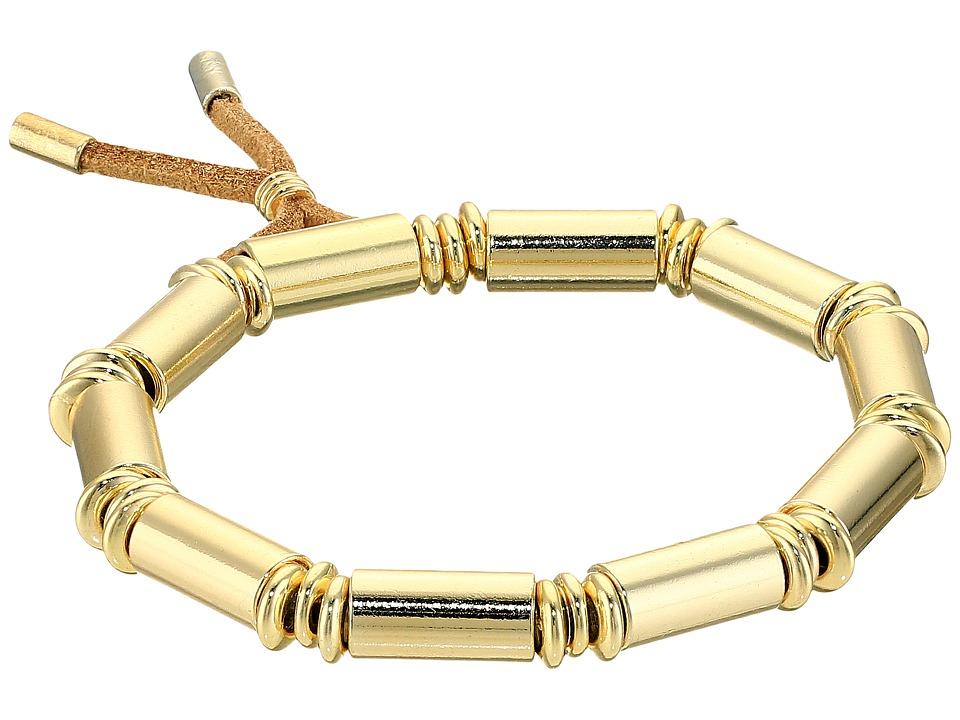 French Connection - Tube Stretch Bracelet (Gold) Bracelet