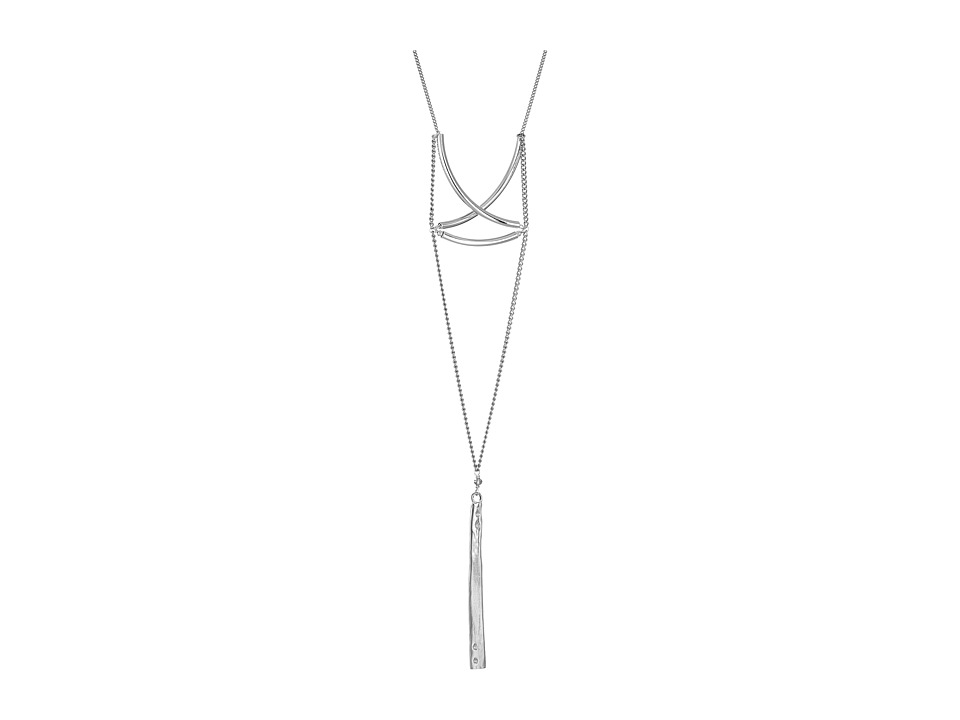 Chan Luu - 20' Bar Pendant Necklace with Silver Crystals (Silver Mix) Necklace