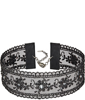 Chan Luu - 11-14' Black Lace Choker with Swarovski Crystals Necklace