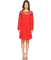 The Kooples - Chiffon & Lace Long Sleeve Dress