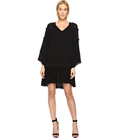 The Kooples - Sport Crinkle Viscose Long Sleeve Dress