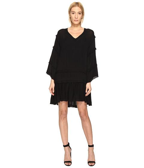 The Kooples Sport Crinkle Viscose Long Sleeve Dress