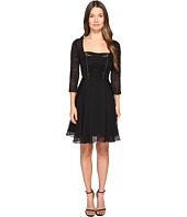 The Kooples - Chiffon & Lacing 3/4 Sleeve Dress