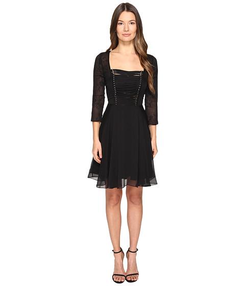 The Kooples Chiffon & Lacing 3/4 Sleeve Dress