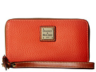 Dooney & Bourke Pebble Zip Around Credit Card Phone Wristlet