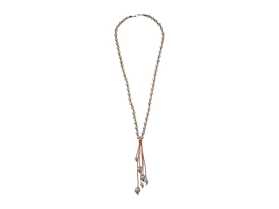 Chan Luu - 33' Grey Fresh Water Pearl Necklace (Grey Pearl) Necklace