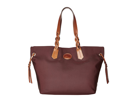 Dooney & Bourke Nylon Shopper - Maroon/Tan Trim