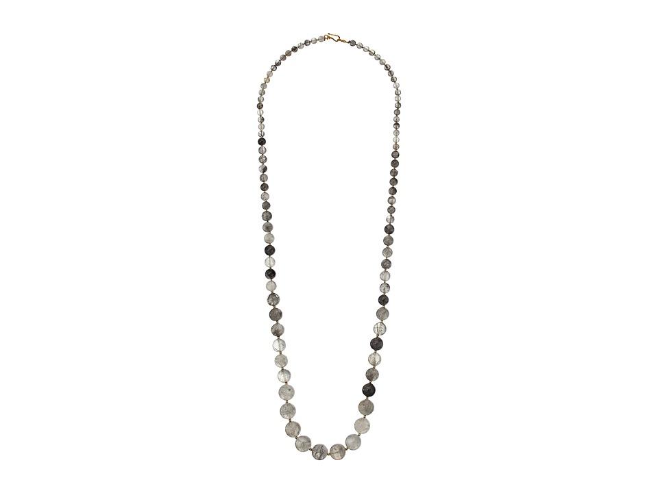 Chan Luu - 36' Grey Cloud Quarty Semi Precious Stone Necklace (Grey Cloudy Quartz) Necklace