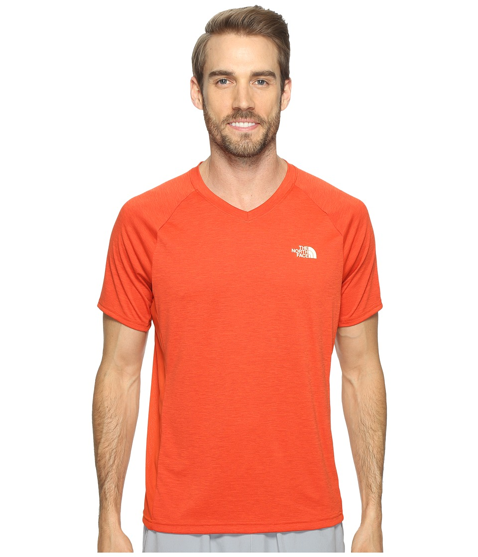 The North Face Ambition V-Neck (Tibetan Orange Heather/Tibetan Orange) Men