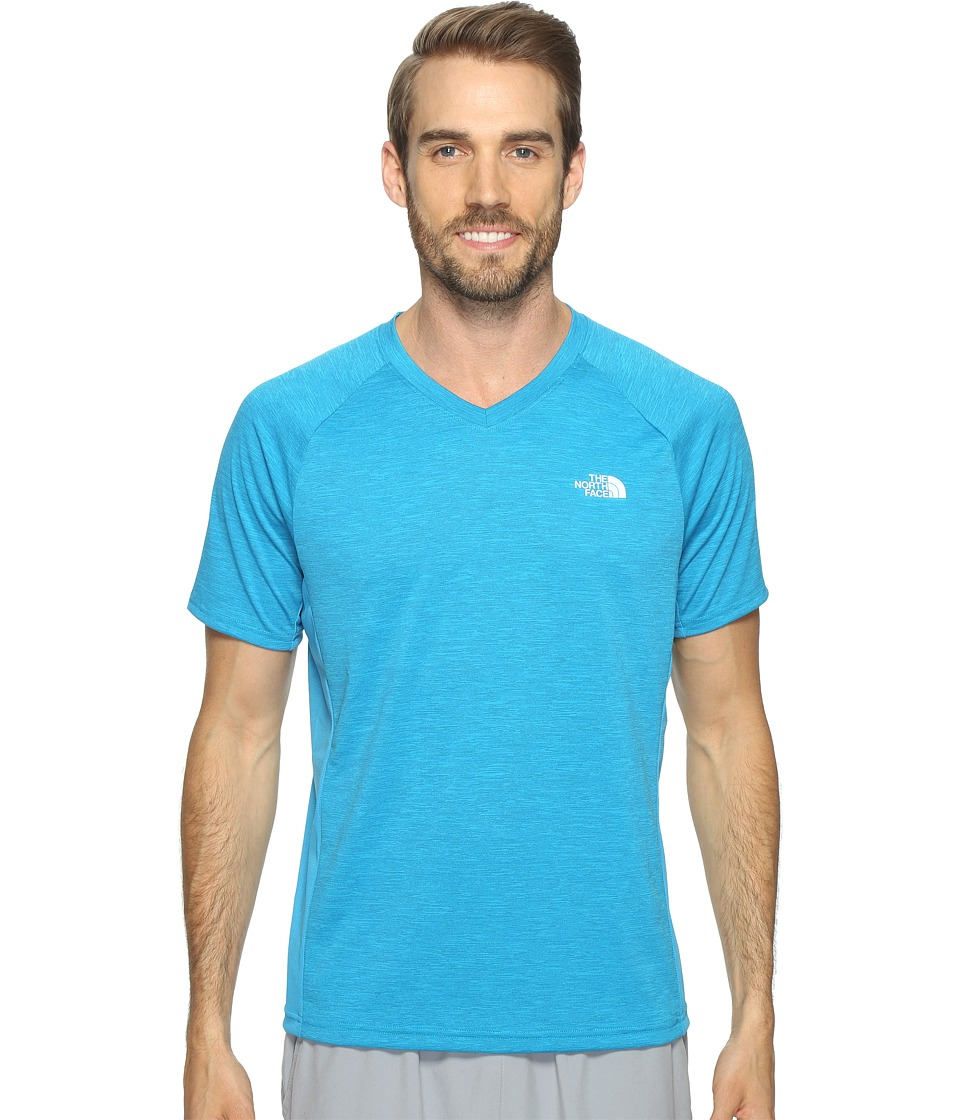 The North Face Ambition V-Neck (Hyper Blue Heather/Hyper Blue) Men