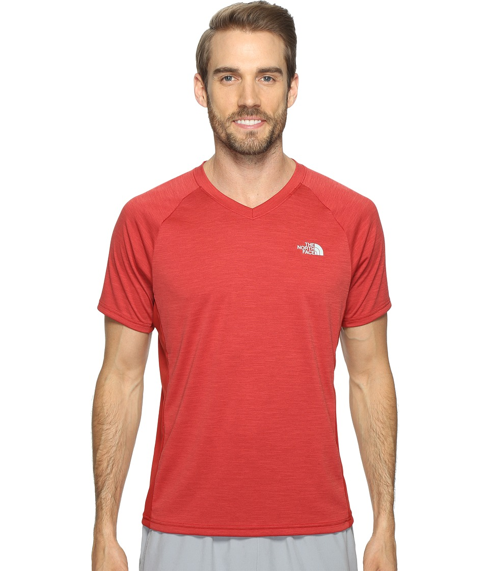 The North Face Ambition V-Neck (Cardinal Red Heather/Cardinal Red) Men